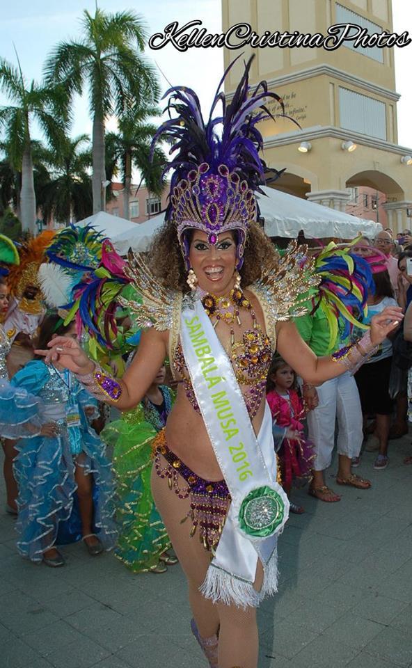 Andrea Araujo is the dance instructor and choreographer to SambaLa and is the 2016 Muse of SambaLa.